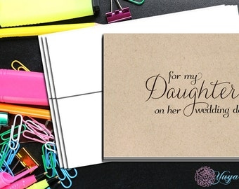 For my daughter on her wedding day/For my daughter wedding day wishes/daughter wedding day note