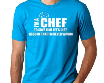 Chef T-Shirt Gift For Cook Chef Funny Profession Tee Shirt