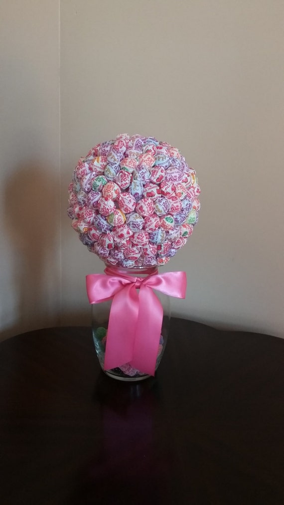 Pink candy centerpiece with vase multi by dashofclassevents