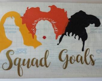 Hocus Pocus Decal, Squad Goals Decal, Hocus Pocus Witches Sticker