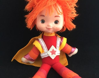 """Mattel 9"""" Rainbow Brite Bright Red Butler Plush Doll Hallmark Vintage 1983"""