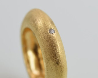 Unique statement ring, Gold ring, gemstones setting, Special ring,  Wedding ring, Gift ring, Designed ring, Sculpted ring, Size 7.75 RG6