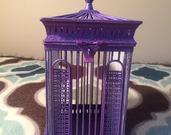 Purple Birdcage Picture Frame
