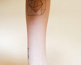 Geometry 3D Temporary Tattoo (Set of 2)