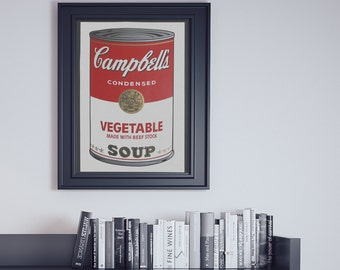 Art Print - Andy Warhol, 'Campbell's Soup I - Vegetable' (1968)