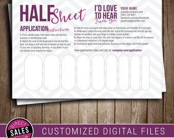 jamberry template   half sheet party prize direct s postcard printable digital file nail wrap template jamberry compatible