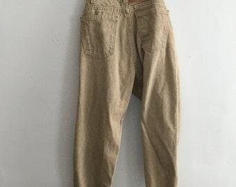 80's Levi Strauss & CO. Sand denim trousers