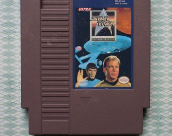 Star Trek for NES with Black Protective Sleeve