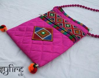 EMBROIDERED HANDBAG - Boho Handbag, Boho Bag, Quilted Handbag, Crossbody Bag, Quilted Bag, Vintage Handbag, Hippie Bag, Hippie Handbag, Psy