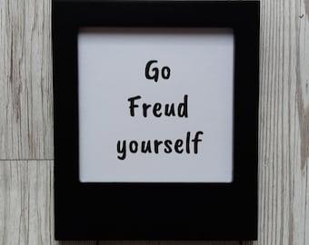 Go Freud yourself - Framed print