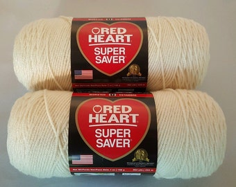 Red Heart Super Saver ARAN Yarn Lot of 2 Skeins 7 oz Worsted Weight