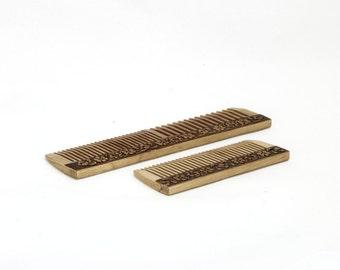 Wood comb, set of 2