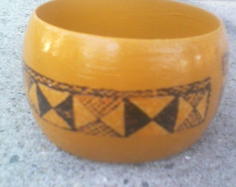 Yellow ochre dome bangle