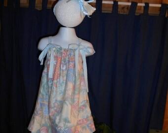 Soft , lined print pillowcase dress.