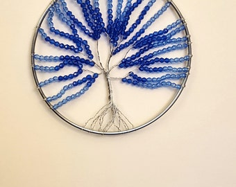 Blue Tree Of Life Dreamcatcher