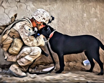 A soldiers best friend - Print or Canvas