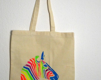 Canvas tote bag - Zebra