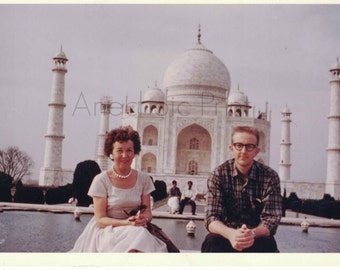 Vintage Photo of Taj Mahal 1960s Destination Vacation