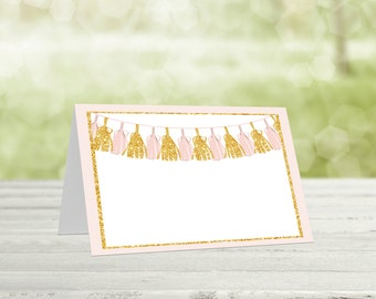 Pink & Gold  Food Tent Cards, Baby shower food, Tent cards, Buffet labels, Baby shower decor, Party decor,  Baby shower food, Tas-1