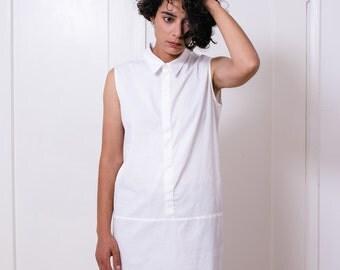 White shirt dress, women's shirt dress