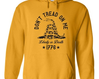 Don't Tread on Me funny liberty death american pride USA america vintage retro humor - Apparel Clothing - Hoodie - Hooded Sweatshirt - 217
