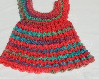 Soft crocheted dress