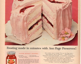 Vintage Collectable Magazine Ad 1950s Ann Page preserves Recipe wonderful Wall Art and Gift