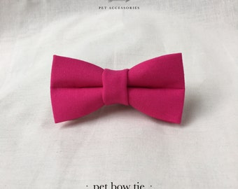 dog or cat bow tie – rosa