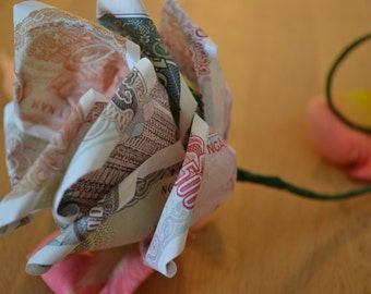 Delicate banknote roses