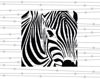 Zebra SVG, DXF, Digital Cut File, Instant Download, Studio, Silhouette Studio