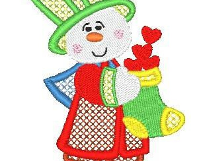 Lacy Mylar Snow Couple ( 10 Machine Embroidery Designs from ATW )