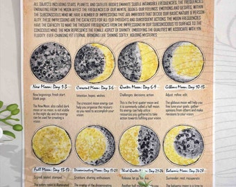 A3 LUNAR PHASES Poster- Tan
