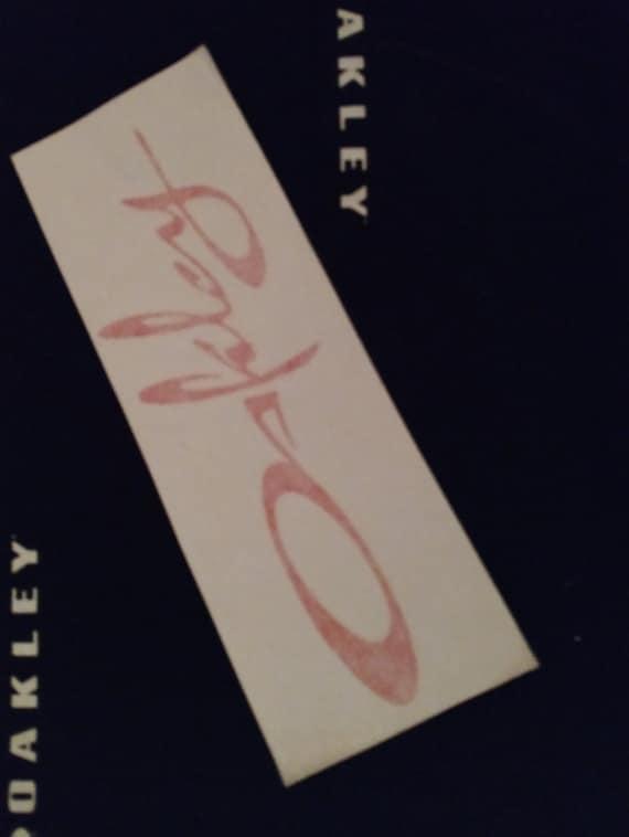 0253e06541 Oakley Script Sticker « Heritage Malta