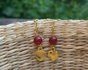 Ruby Harts Earings
