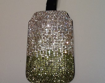 Green & Clear Swarovski Crystal Phone Case