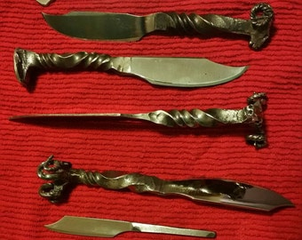 Ram's Head Hand Forged Knives