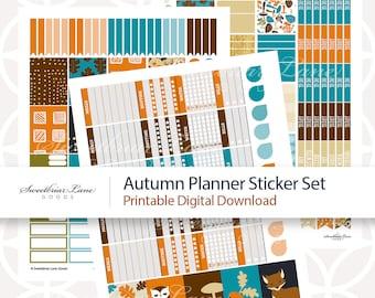 Autumn Printable Planner Sticker Set for Instant Digital Download