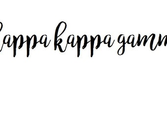 calligraphy kappa kappa gamma