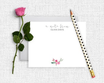 Personalized Stationery, Personalized Stationary, Personalized Note Cards, Thank You Note Cards,  Stationery Set, Custom Stationery, FL03
