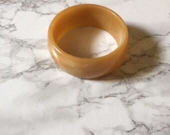 caramel butterscotch bracelet / chunky minimalist cuff bracelet