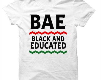 Black And Educated - BAE - T-shirt - White - Ladies