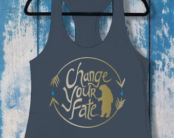 Change Your Fate | Ladies Racerback Tank Top | Disney-Inspired | Merida | Brave | Disney Princess