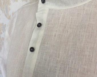 Linen shirt men's, Linen summer shirt, Long sleeve linen shirt, Summer linen shirt, Linen shirt, Linen men's shirt, White linen shirt.