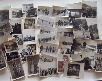 40 Vintage Photographs Soldiers Military in Uniform 1940s-1950s
