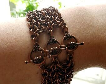Chunky Copper Bracelet