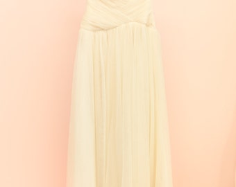 Wedding Dress, Bridal Gown, Formal Dress, Bridesmaid Dress, Size 10, Cream, Dropwaist, Tulle, Original design, Handmade