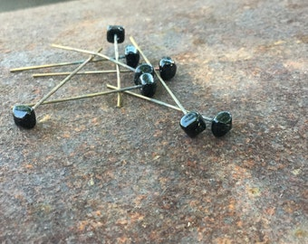 Vintage Glass Head Pins - 16 Pieces - #144
