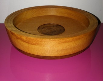 Beech and Mahogany Bowl