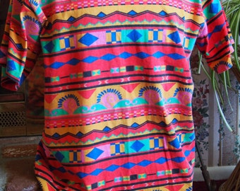 90's Funky Printed Saved by the Bell Tee
