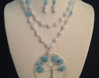 Moonstone & Turquoise Tree of Life